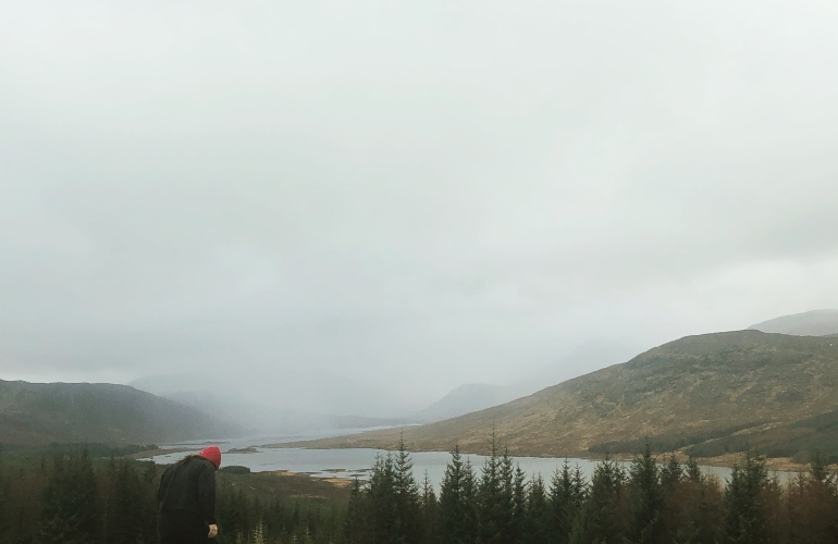 A quick shot of me during a pit stop on a drive through the west Highlands